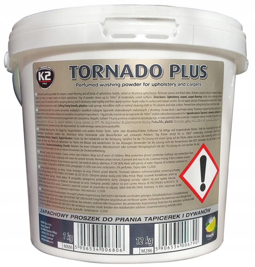 K2 TORNADO PLUS ZAPACHOWY PROSZEK DO PRANIA - 12KG