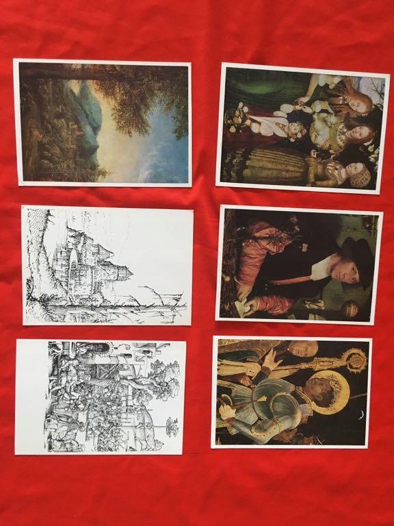 Malarstwo różne 6szt. 1974r.Niemcy