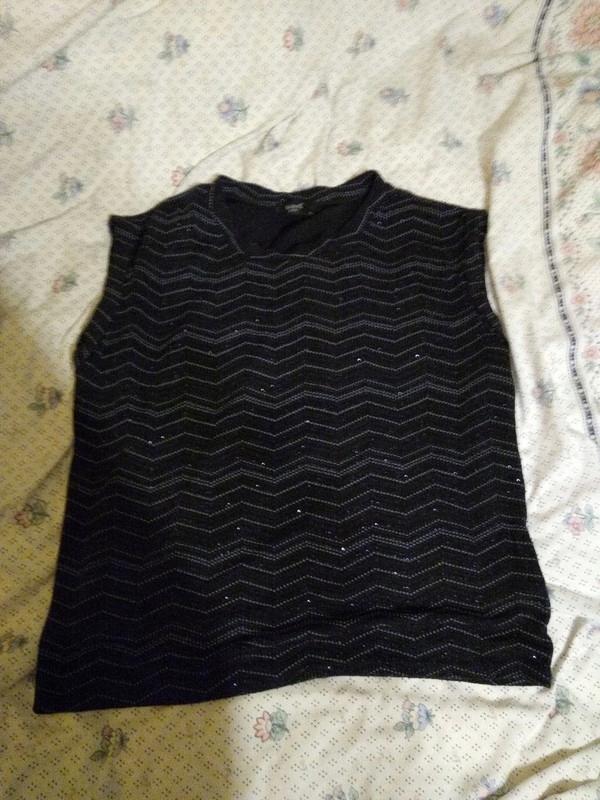Brokatowa metaliczna bluzka xl Sisters point