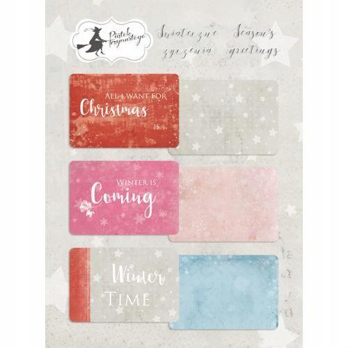 Karty do journalingu Świąteczne Życzenia 10x15 cm