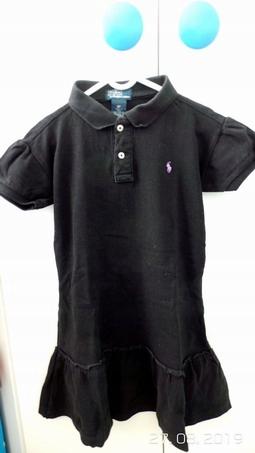 POLO Ralph Lauren-czarna sukienka z logo/128