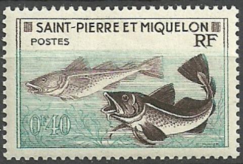 St Pierre et Miquelon(*) 0,40 Fr ryby