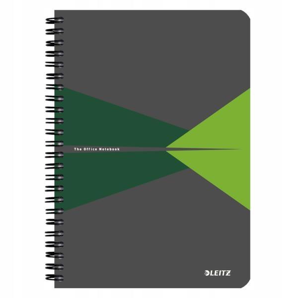 Kołonotatnik Leitz A5 kratka PP zielony 44980055