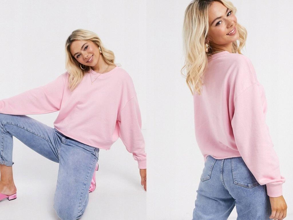 New Look Różowa bluza damska neonowy róż L