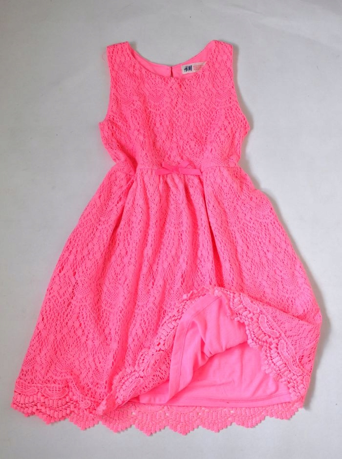 H&M Sukienka Koronkowa 6-8l 122-128cm NEONOWA