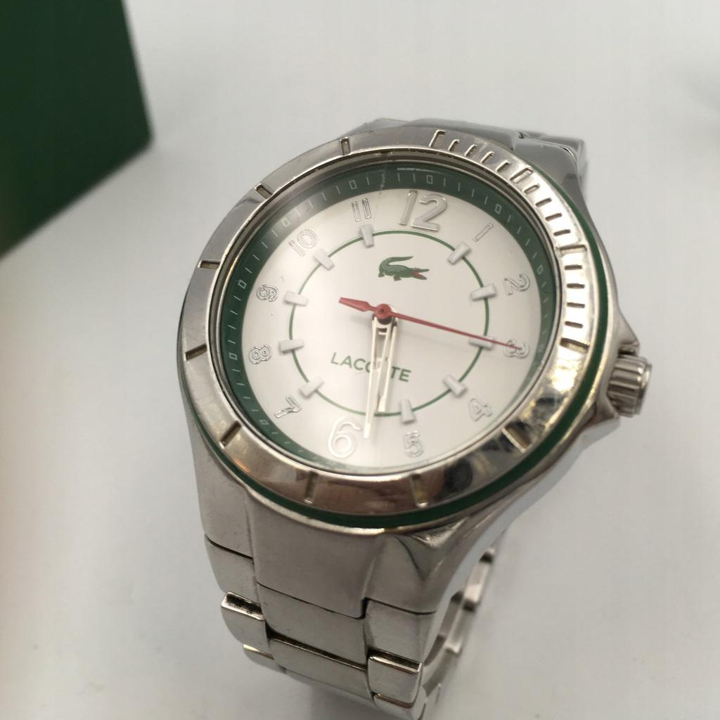 z4 LACOSTE zegarek damski srebrny bransoleta