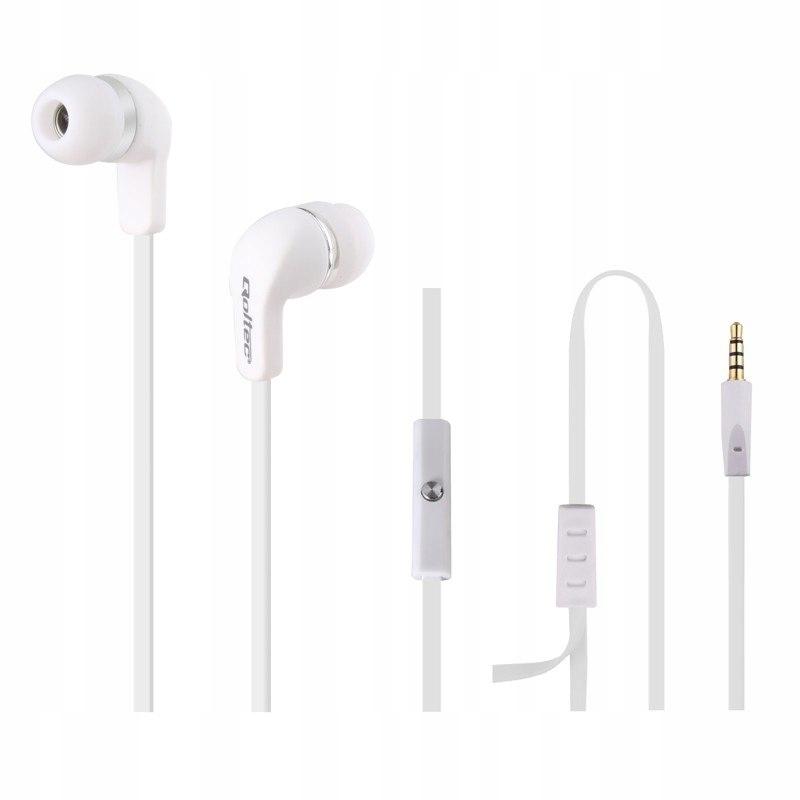 Słuchawki douszne + mikrofon | białe