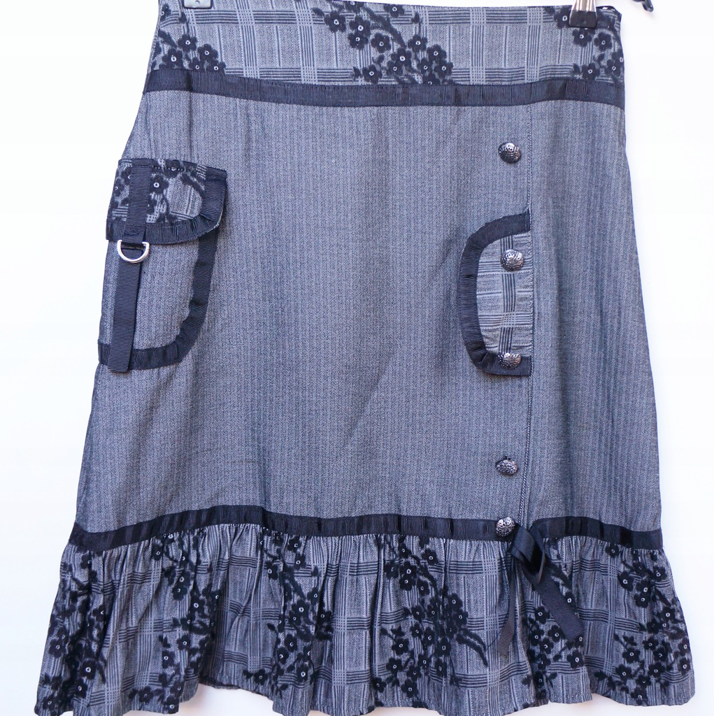 atrakcyjne spódnice szara spódnica do kostek z kokardą
