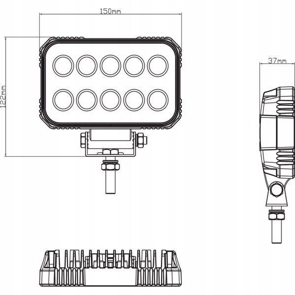 Lampa robocza LED, 15W 1900lm światło rozproszone
