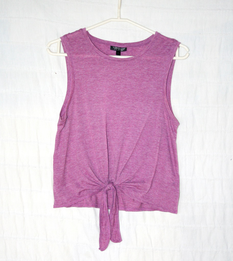 bluzka Topshop, fiolet wiązana, S