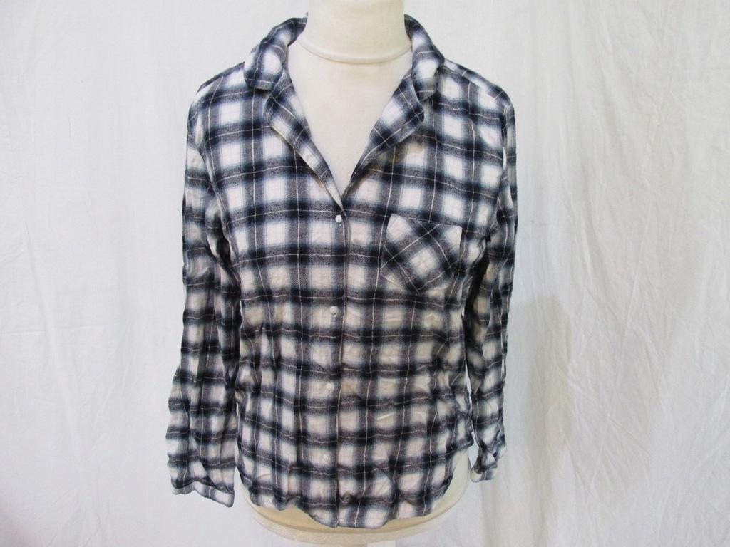 H&M_SUPER piżama koszula_krata_S MĘSKA