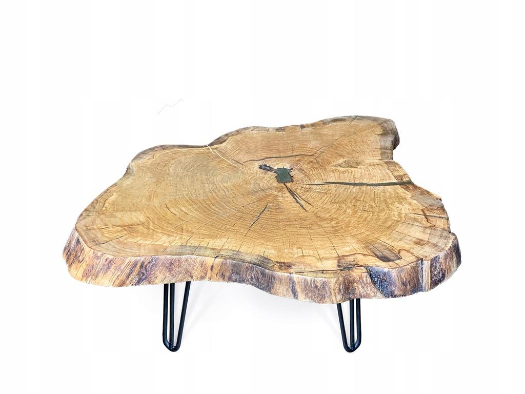 Stolik kawowy drewniany do salonu dąb   95 cm