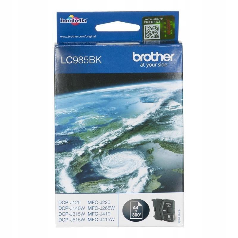 Tusz Brother LC985BK (oryginał LC-985BK; 29 ml; cz