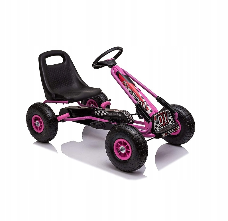 Ricco Toys Gokart Na Pedały Dla Dzieci Różowy