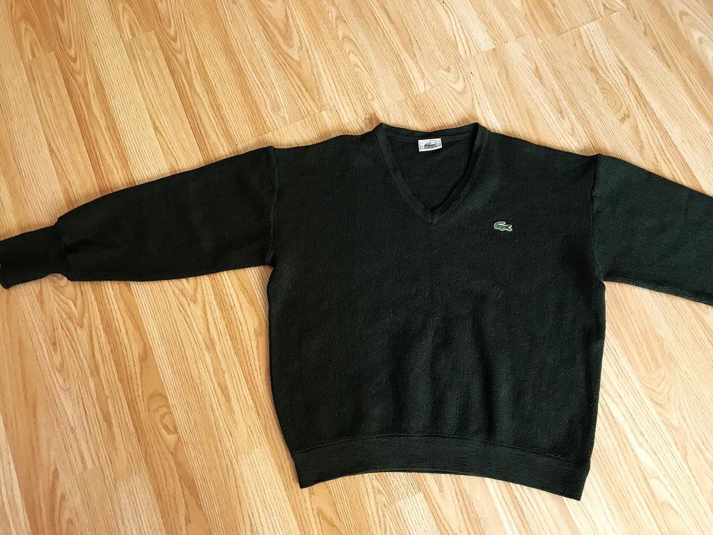 LACOSTE sweter męski 100% WEŁNA