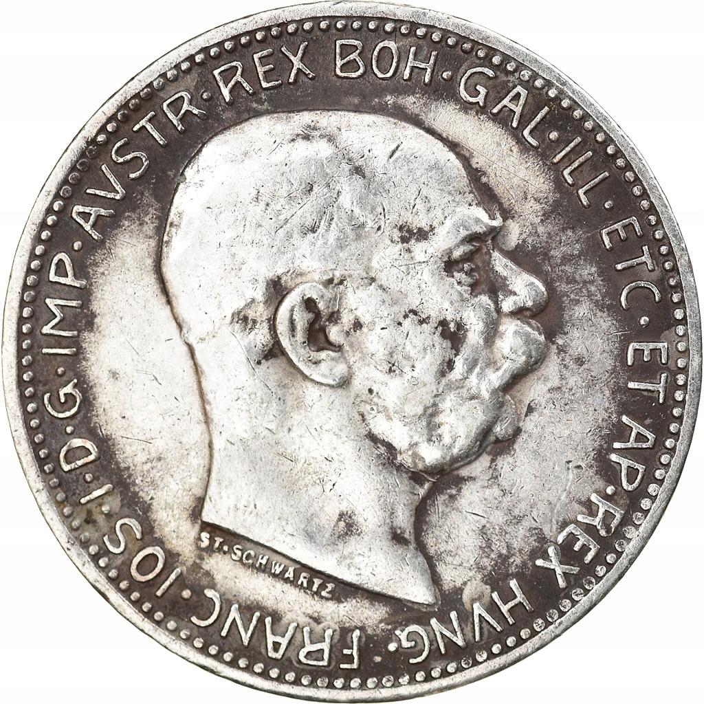Moneta, Austria, Franz Joseph I, Corona, 1916, AU(