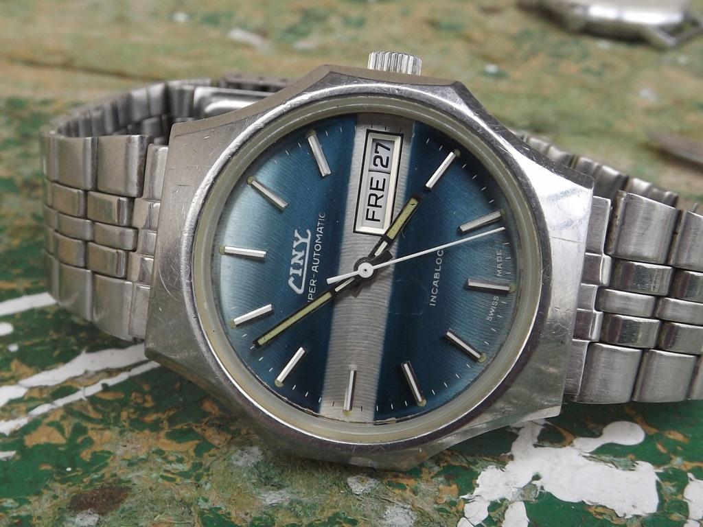 Ciny super automatic - złoty werk - stary zegarek