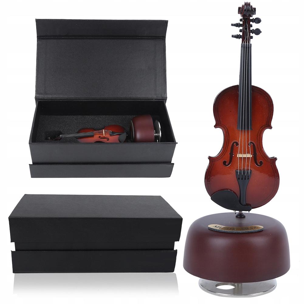 drewniana pozytywka model instrumentu 24cm*9cm