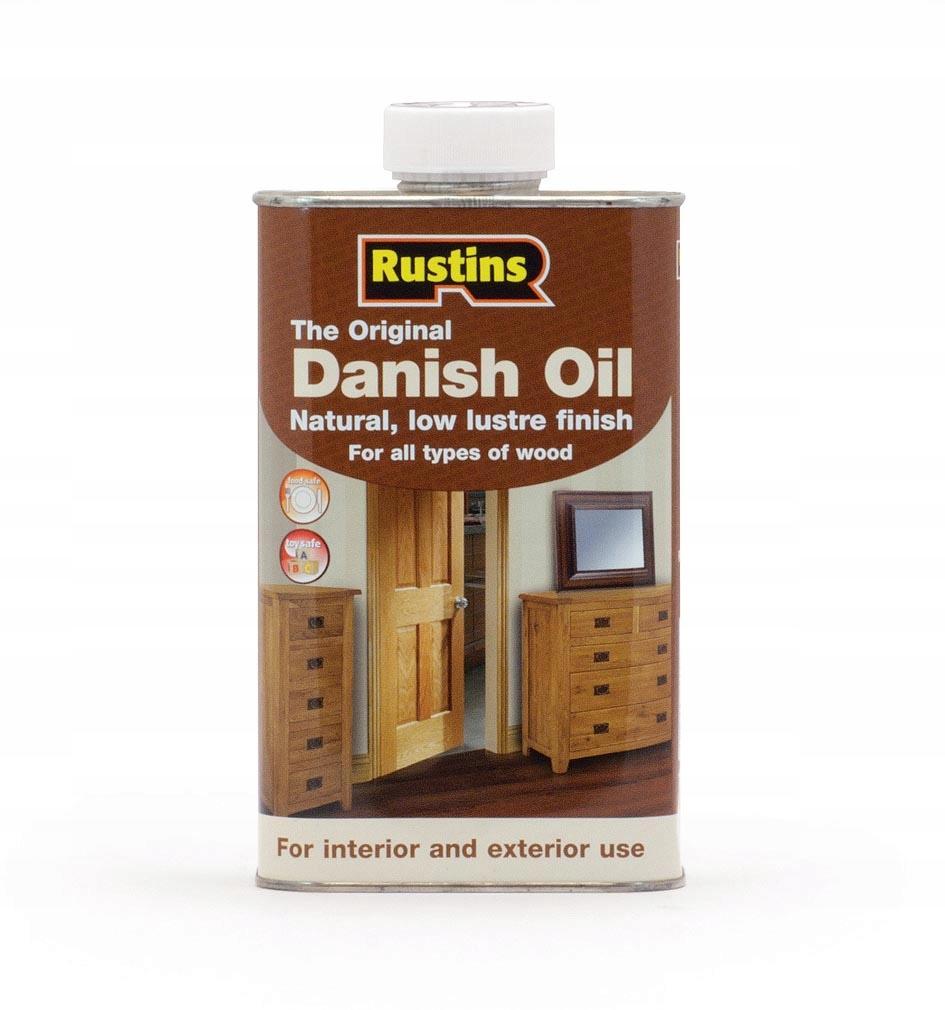 Rustins Danish Oil 1l Olej duński do drewna
