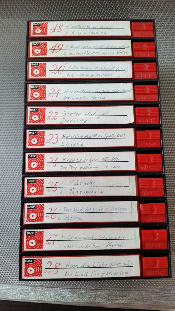 Basf - pudełka etui na kasety