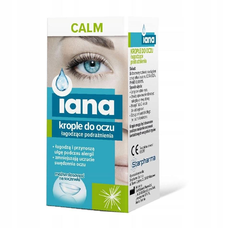 IANA Krople do oczu CALM łagodzące podrażnienia 10