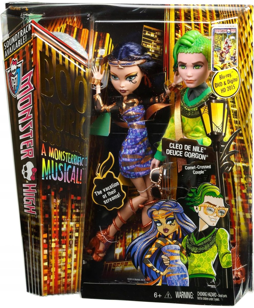 Monster High Boo York Cleo Deuce Unikat 8277240545 Oficjalne Archiwum Allegro