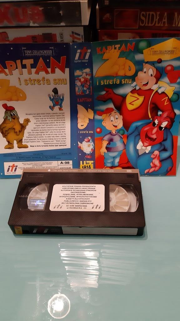 Kapitan Zed i strefa snu_ VHS.Unikat z lat 80tych.