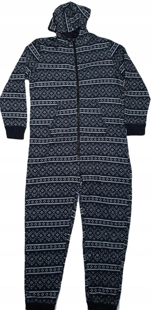 A769. Piżama kombinezon onesie norweskie wzory XL