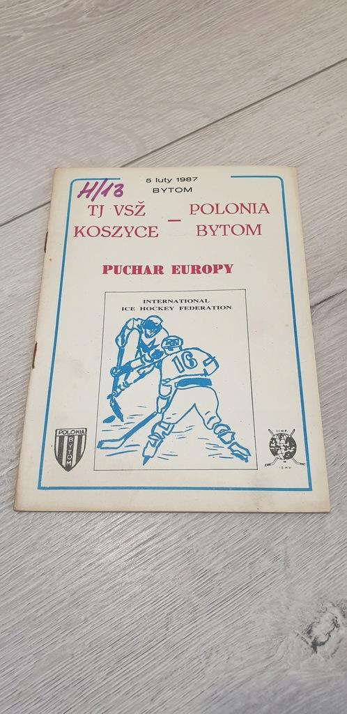 PROGRAM SPORTOWY - 1981 KOSZYCE - KS POLONIA