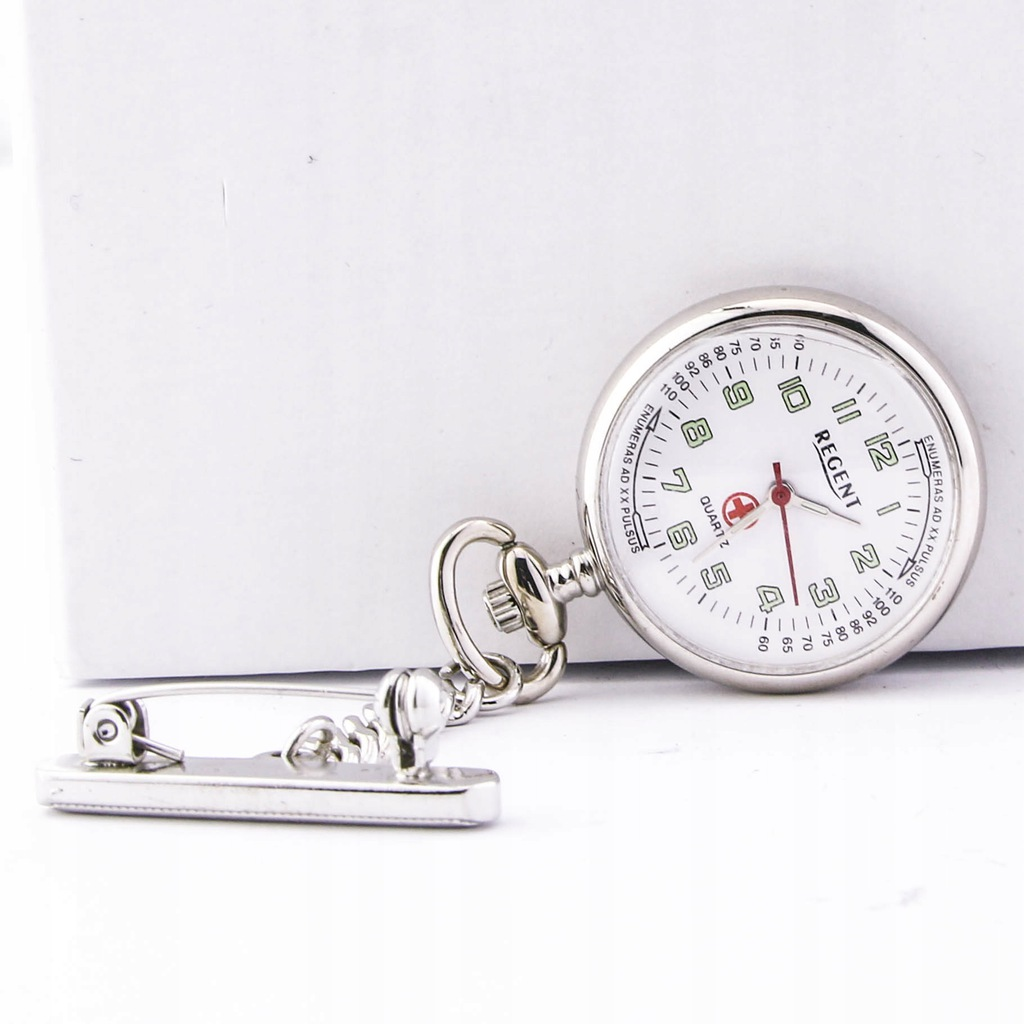 Zegarek kieszonkowy REGENT 12390010 unisex srebrny