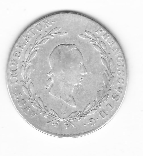 Austro-Węgry 20 krajcarów 1828 E Ag