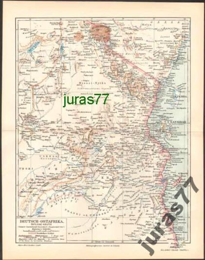 NIEMIECKA AFRYKA WSCHODNIA - WSCHÓD z 1897 roku