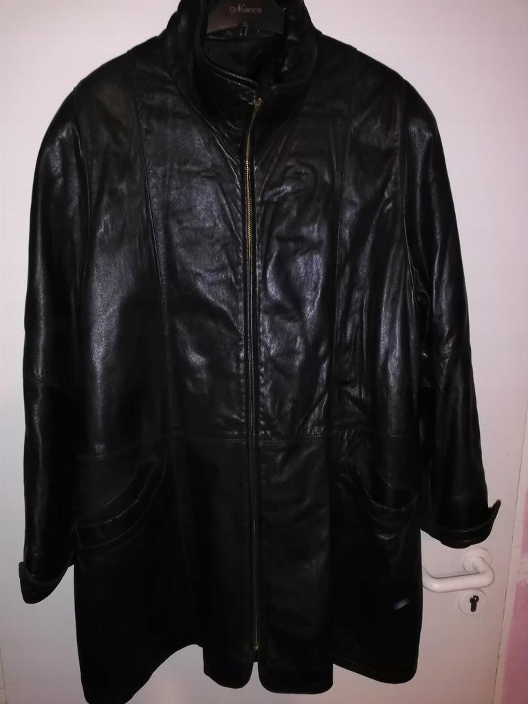 świetny płaszcz skórzany C&A r. L