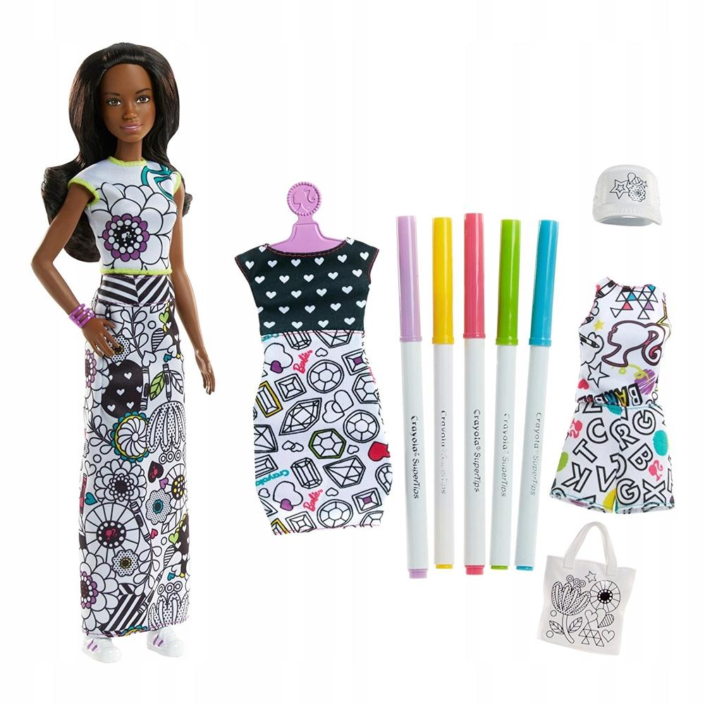 Barbie Zestaw Kolorowa Moda Lalka Crayola Fph91 7310345641 Oficjalne Archiwum Allegro