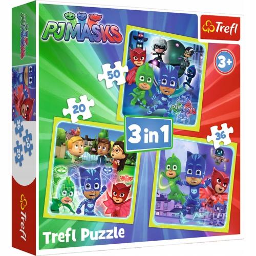 Puzzle Trefl 3w1 Gotowi do działania 106 elementów