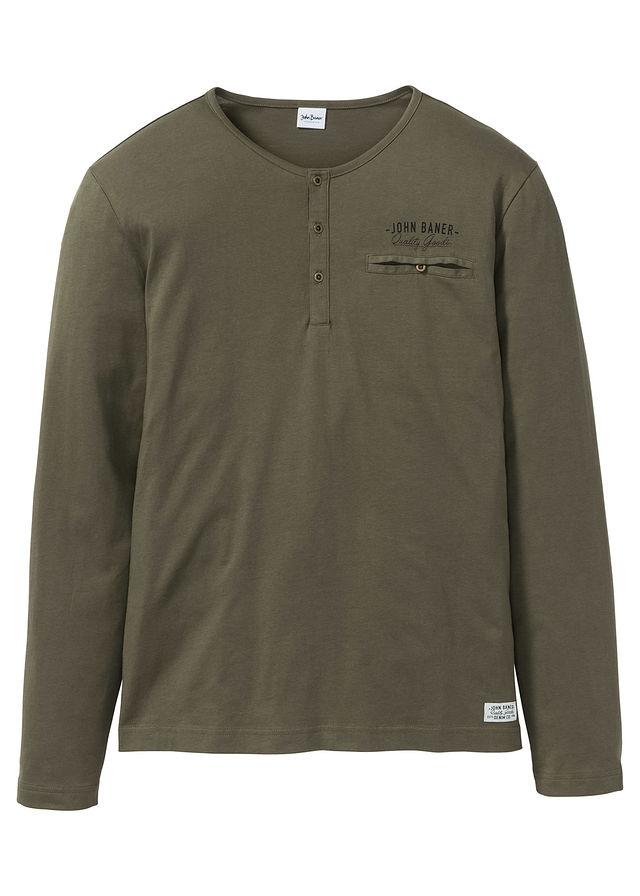 Shirt z długim rękawe zielony 64/66 (3XL) 967142