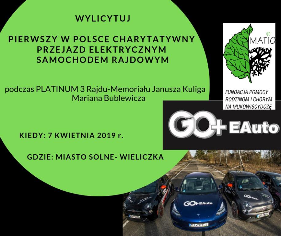 Rajdowy Przejazd Samochodem Elektrycznym GO+EAuto