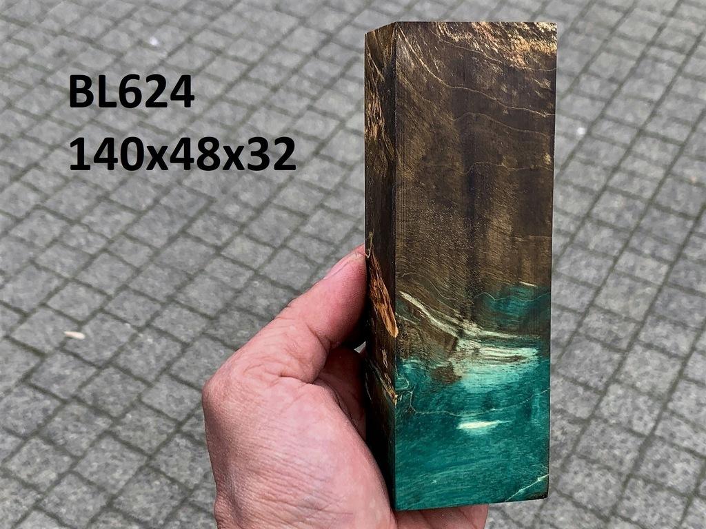 Drewno stabilizowane bloczek knifemaking BL624