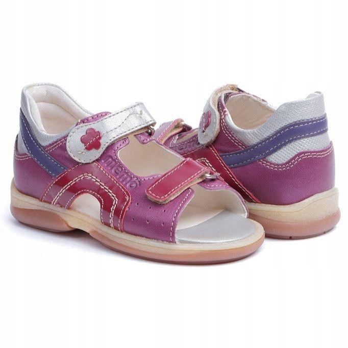 Sandały dziecięce Memo Szafir różowo-srebrny