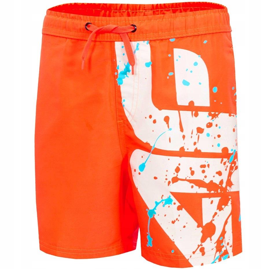 Spodenki kąpielowe dla chłopca 4F pomarańcz neon H