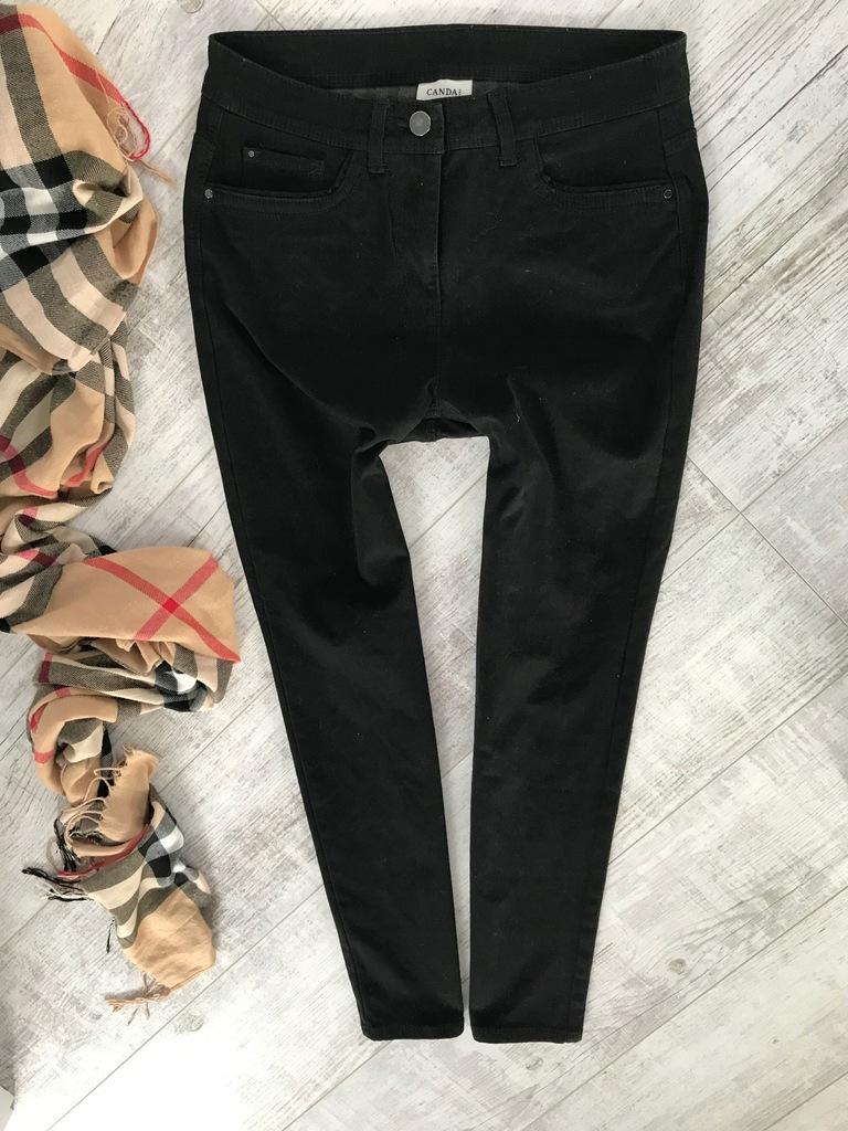 C&A SLIM spodnie jeans czarne 38/40 OCIEPLANE
