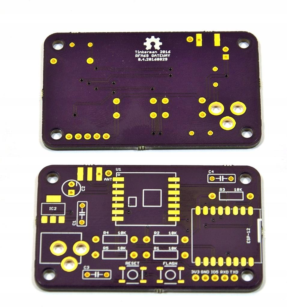 Płytka PCB bramki RFM69 na ESP8862 [digi-led]
