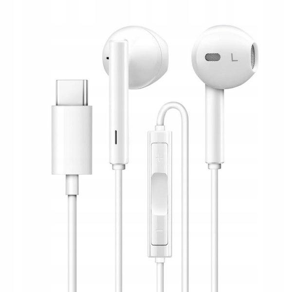 USAMS Słuchawki stereo EP-34 USB-C biały/white HSE