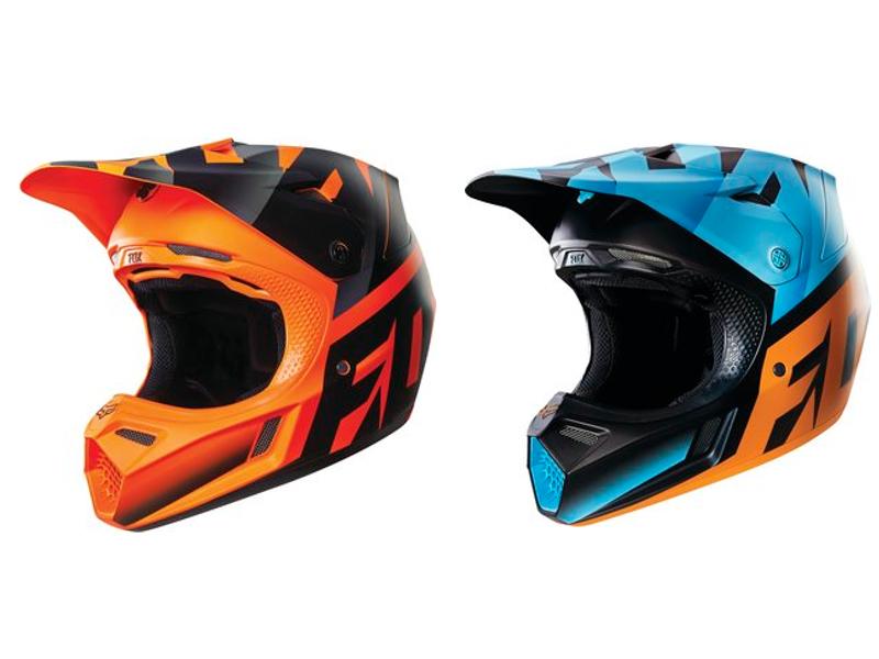 Fox V3 Shiv kask -czarno-pomarańczowy-L