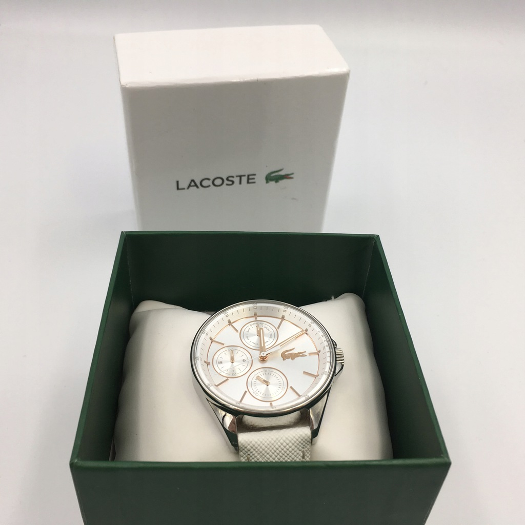 102 LACOSTE PHILADELPHIA zegarek pasek biały