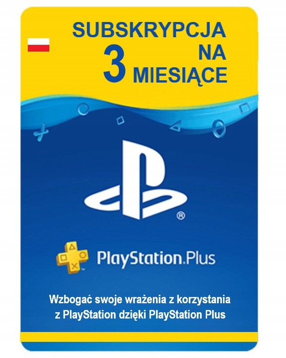 PlayStation Plus 3 miesiące PSN PS4 klucz kod 90