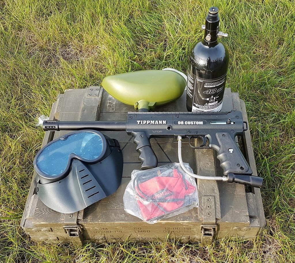 paintball zestaw BT-4 combat i Tippmann 98 Custom
