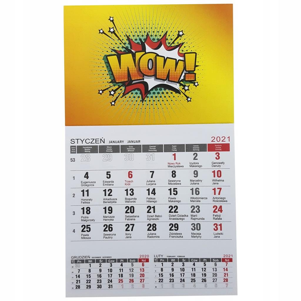 Kalendarz magnetyczny 2021 magnes 100 szt.