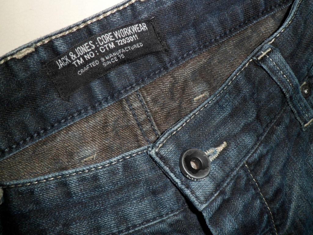 JACK&JONES spodnie męskie jeans rozm36/32pas96
