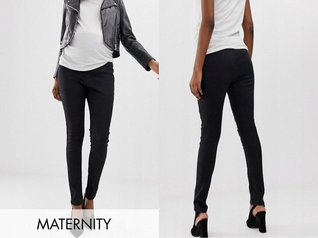 Bandia Maternity czarne ciążowe spodnie jea 36